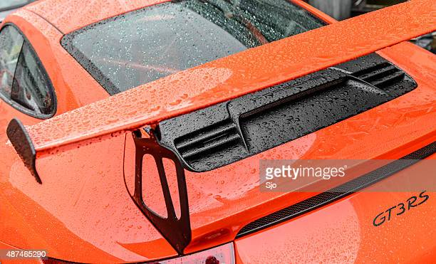 Porsche 911 GT3 RS sports car rear spoiler