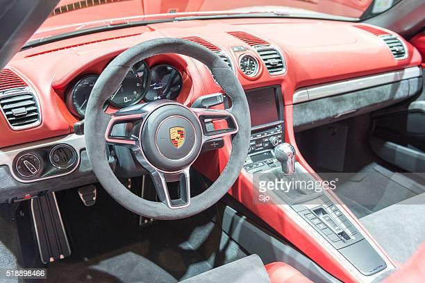 Porsche Boxster Spyder open sports car interior