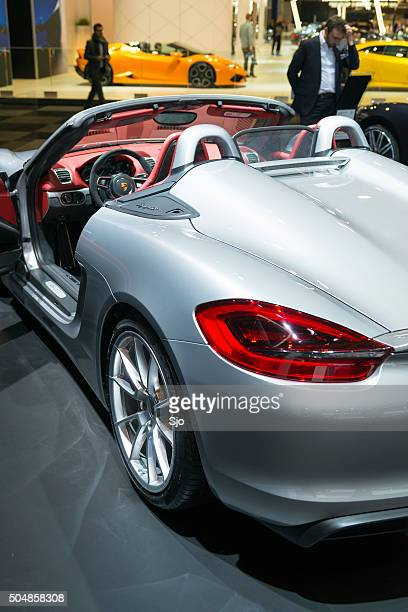porsche spyder stock photos and pictures getty images. Black Bedroom Furniture Sets. Home Design Ideas