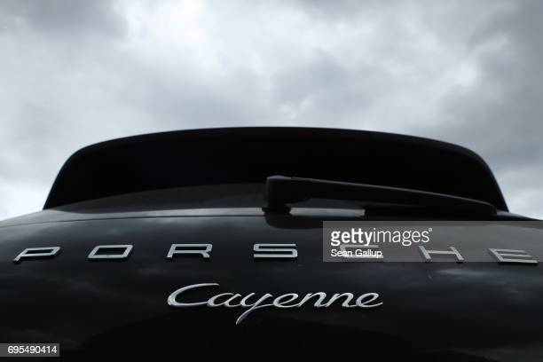 Porsche Cayenne diesel SUV stands parked on June 13 2017 in Berlin Germany Spiegel magazine after conducting independent tests on a Porsche Cayenne...