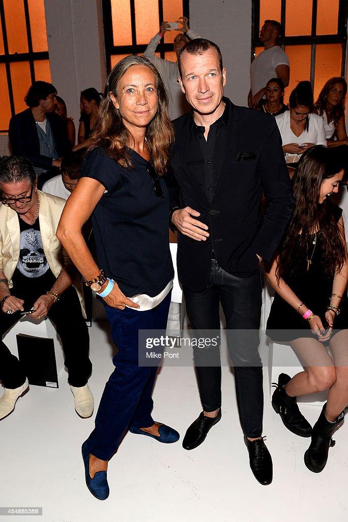 Porsche Design CEO Juergen Gessler and guest attend the Porsche Design Spring/Summer 2015 fashion show during MercedesBenz Fashion Week Spring 2015...