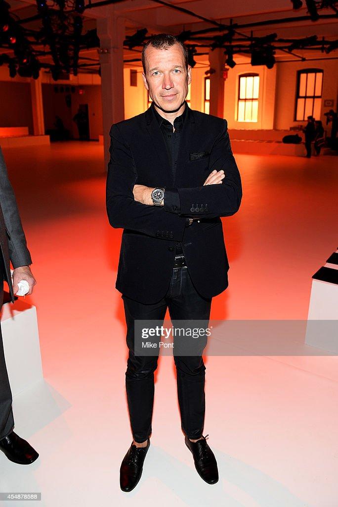 Porsche Design CEO Juergen Gessler attends the Porsche Design Spring/Summer 2015 fashion show during MercedesBenz Fashion Week Spring 2015 at...