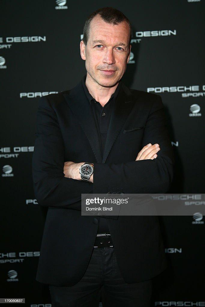 Porsche Design Group Dr Juergen Gessler attends Porsche Design Sport Mountain Loft at University of Television and Film Munich on June 6 2013 in...