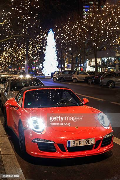 Porsche is seen during the innovations presentation of Porsche Design in front of the Porsche Design Store on November 27 2015 in Berlin Germany