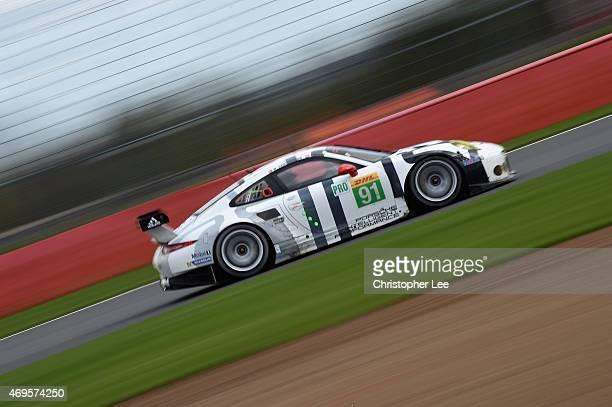 Porsche Team Manthey car driven by Richard Lietz of Austria and Michael Christensen of Denmark in action during the FIA World Endurance Championship...