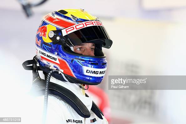 Porsche Team Porsche 919 Hybrid LMP1 driver Mark Webber of Australia prepares to drive during the FIA World Endurance Championship 6 Hours of...