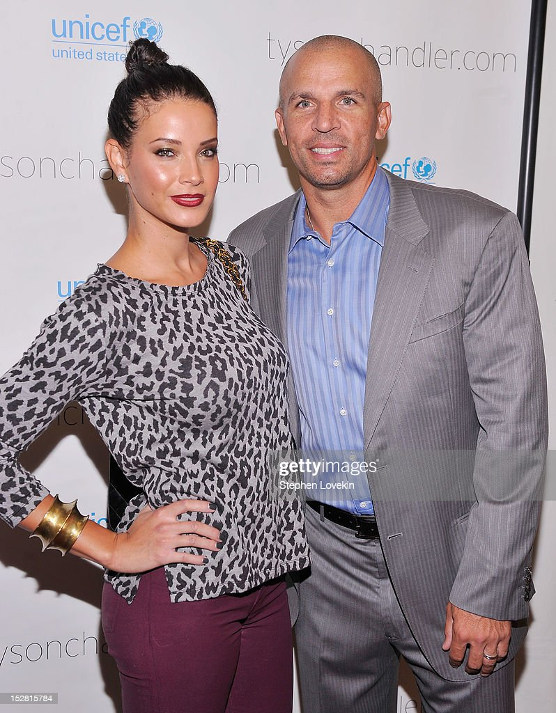 Porschla Kidd and NBA basketball player <a gi-track='captionPersonalityLinkClicked' href=/galleries/search?phrase=Jason+Kidd&family=editorial&specificpeople=201560 ng-click='$event.stopPropagation()'>Jason Kidd</a> attend the 'A Year In A New York Minute' photo exhibition at Canoe Studios on September 26, 2012 in New York City.
