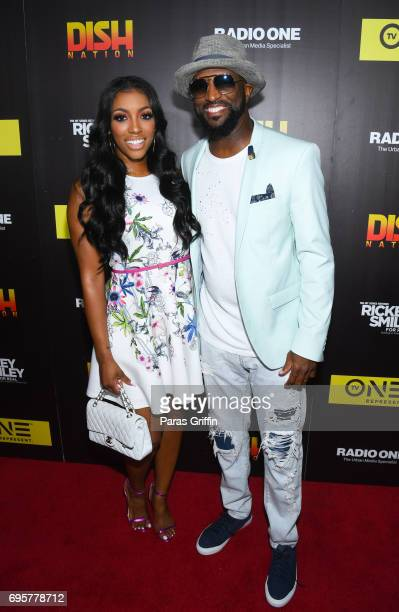 Porsha Williams and Rickey Smiley attend 'Rickey Smiley For Real' Season 4 Premiere at Regal Atlantic Station on June 13 2017 in Atlanta Georgia