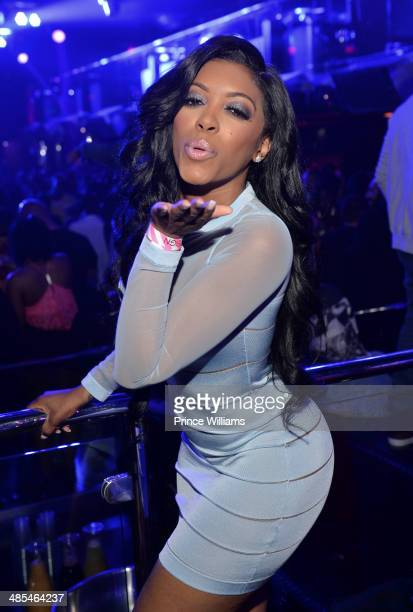 Porsha Williams attends a party at Reign Nightclub on April 17 2014 in Atlanta Georgia