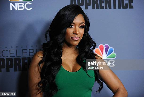 Porsha Williams attends the press junket For NBC's 'Celebrity Apprentice' at The Fairmont Miramar Hotel Bungalows on January 28 2016 in Santa Monica...