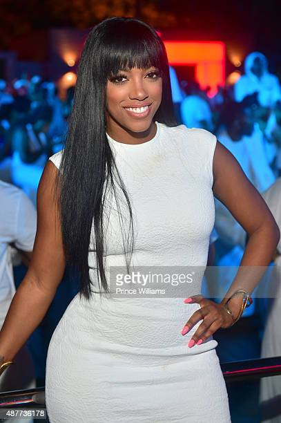 Porsha Williams attends The Second Annual 'All White Party' at Soho Lounge on September 7 2015 in Atlanta Georgia