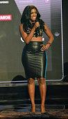 Porsha Williams onstage at the BET Hip Hop awards at Boisfeuillet Jones Atlanta Civic Center on September 20 2014 in Atlanta Georgia