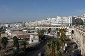 Daily life scene from Algiers, capital city of Algeria