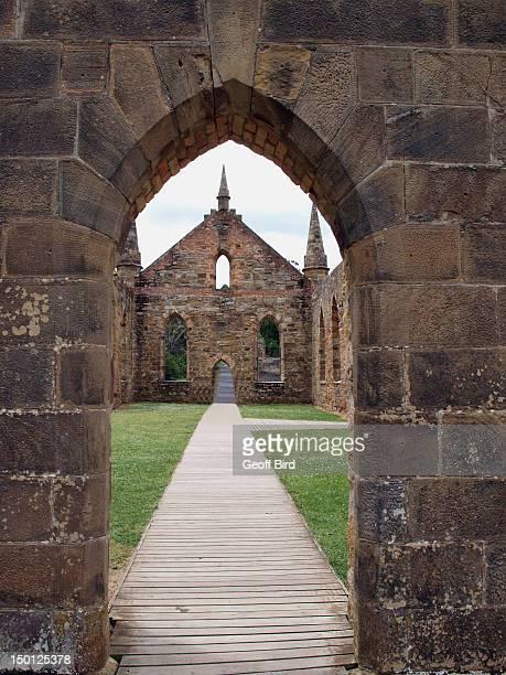 Port Arthur Chapel ruins