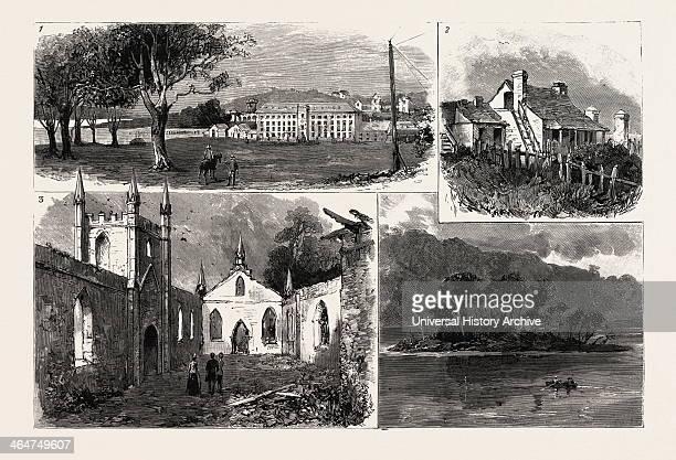 Port Arthur Tasmania Australia 1888 Engraving