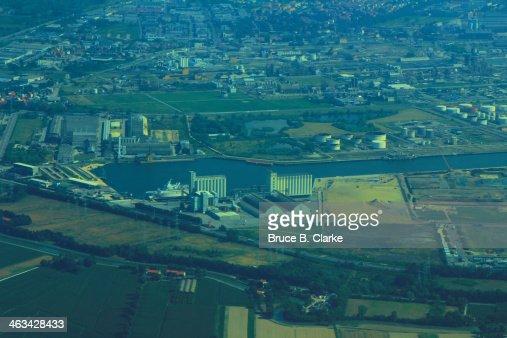 Port at Marghera Italy near Venice : Stock Photo