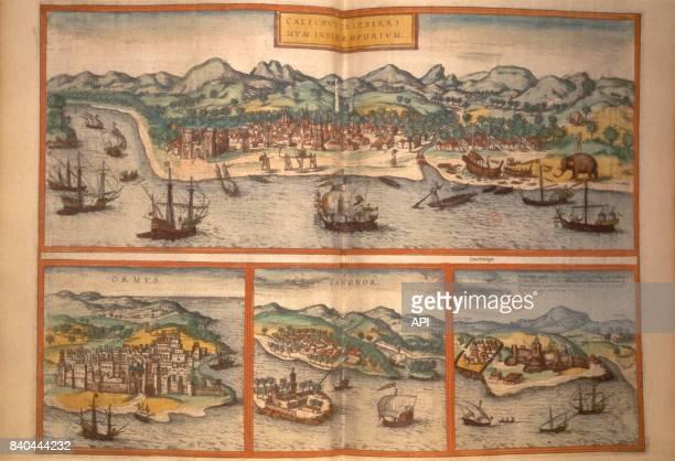 Port de Calicut au XVIè siècle en Inde