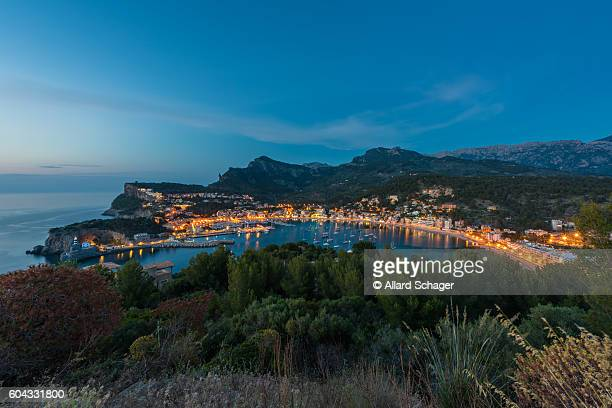 Port de Soller Mallorca at dusk