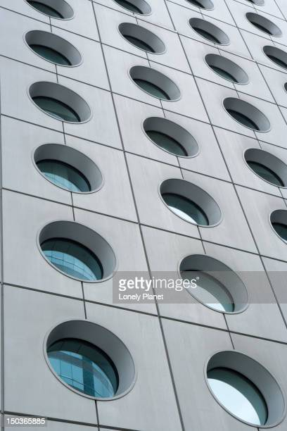 Port hole windows of Jardine House.