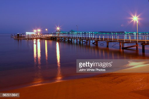 Port Lincoln town jetty. South Australia.
