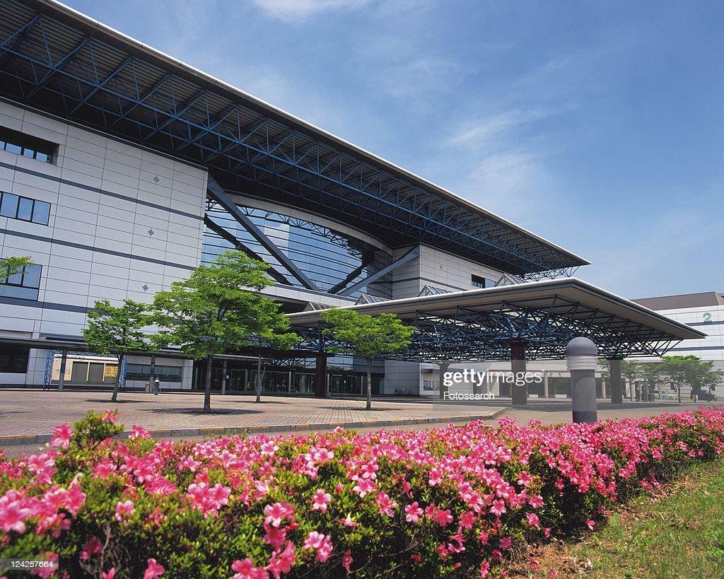 Port Messe Nagoya, Nagoya City, Japan, Side View, Pan Focus