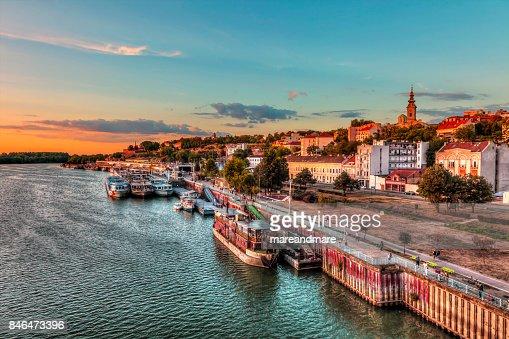 port of Belgrade : Stock Photo