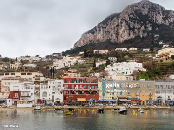 Port of Capri Island seen from the sea