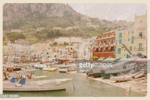 Port of Capri, Italy - VIntage Postcard
