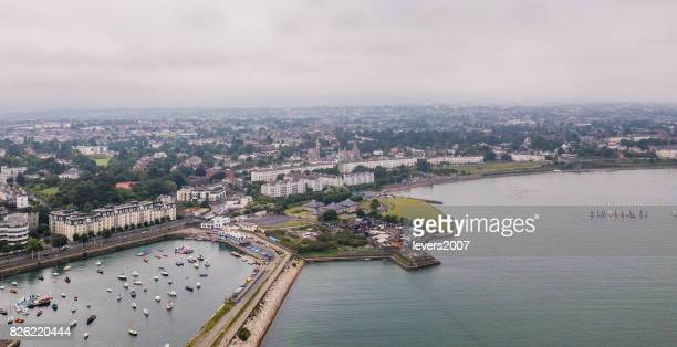 Port of Dun Laoghaire from above, Dublin, Ireland.