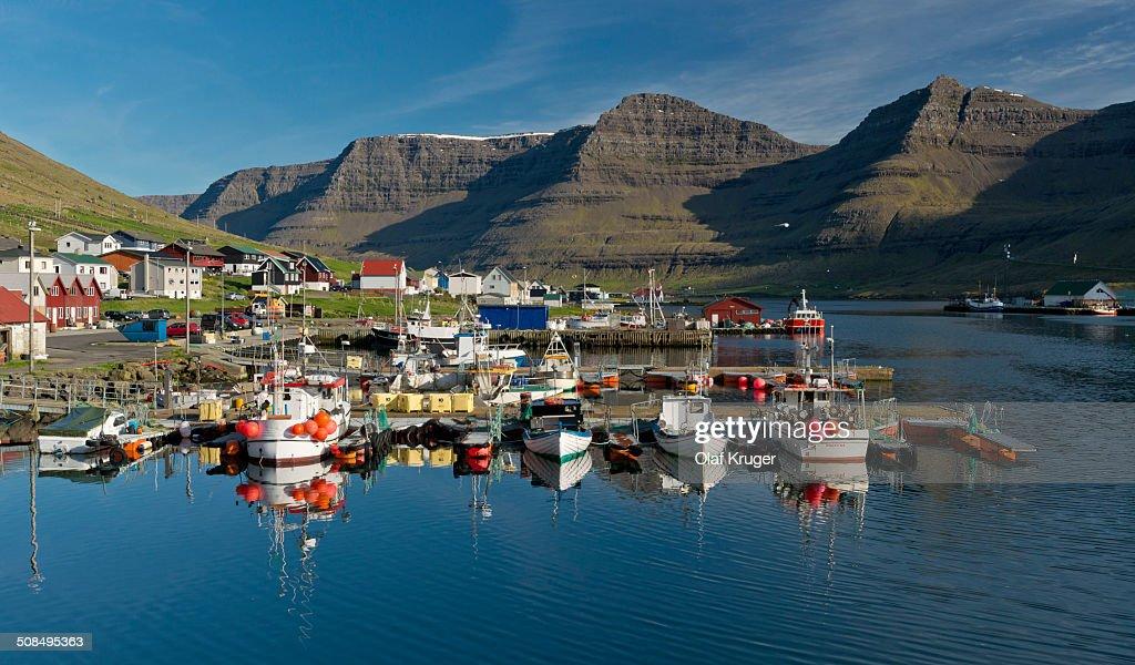 Port of Hvannasund, Viooy, Faroe Islands, Denmark