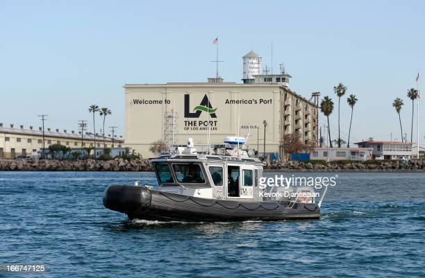 Port of los angeles stock photos and pictures getty images for La port police