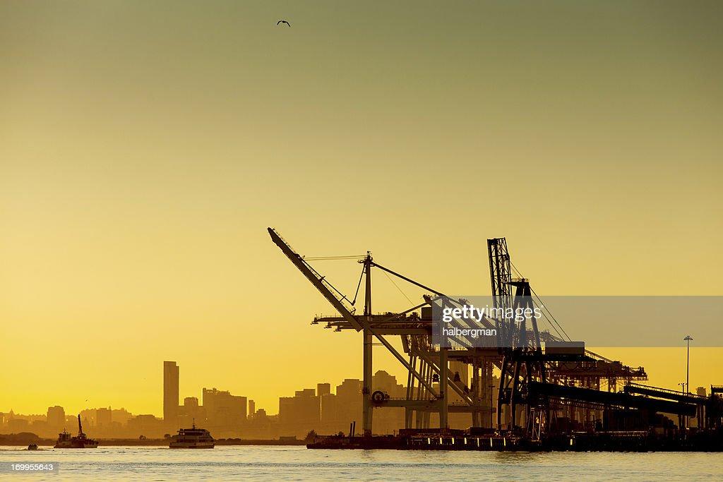 Port of Oakland Shipping Cranes