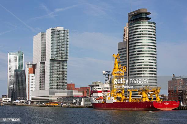 Port Of Rotterdam cityscape