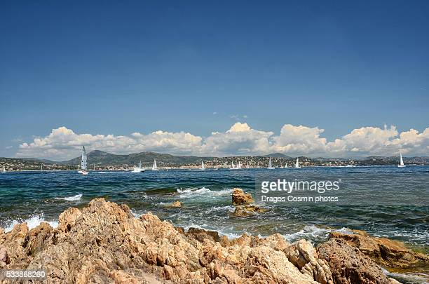 Port of Saint-Tropez in France