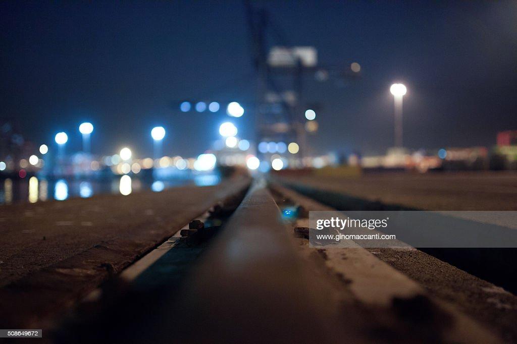 Port rails : Stock Photo
