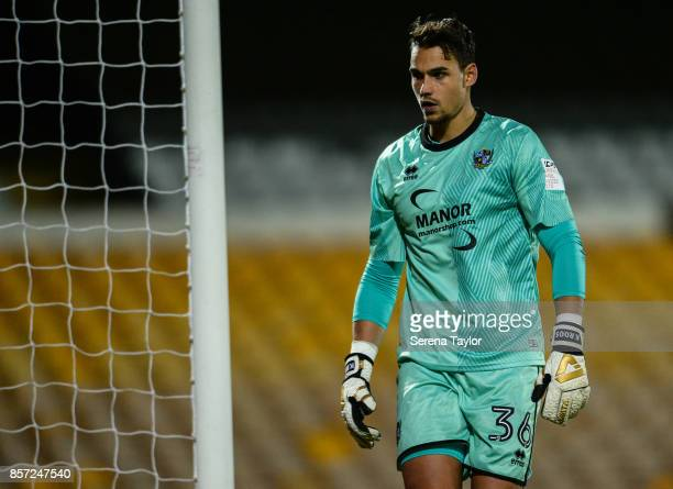 Port Vale goalkeeper Kelle Roos during the EFL Checkatrade Trophy match between Port Vale and Newcastle United at Vale Park on October 3 in Burslem...