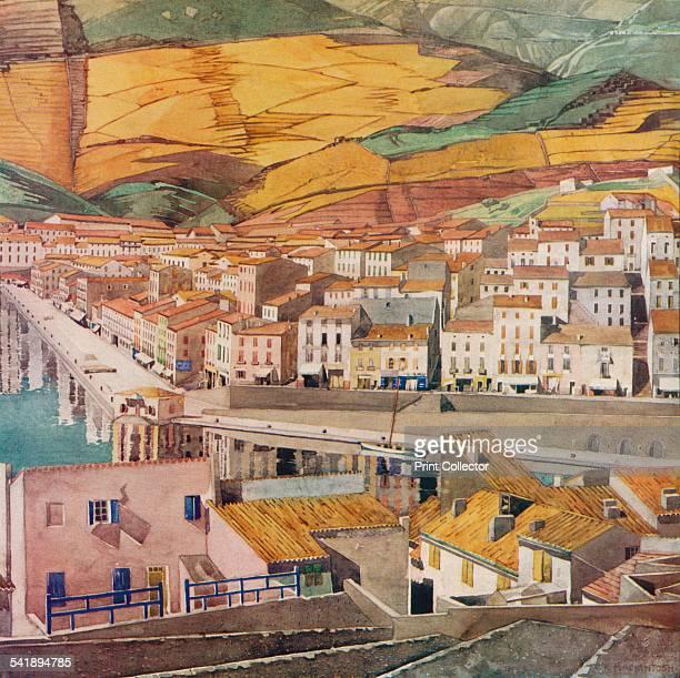 'Port Vendres La Ville' c1925 From The Studio Volume 105 [The Offices of the Studio Ltd London 1933]Artist Charles Rennie Mackintosh