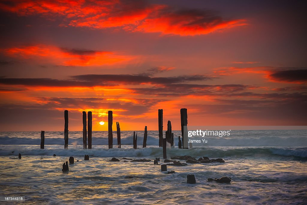 Port willunga sunset stock photo getty images for Port willunga