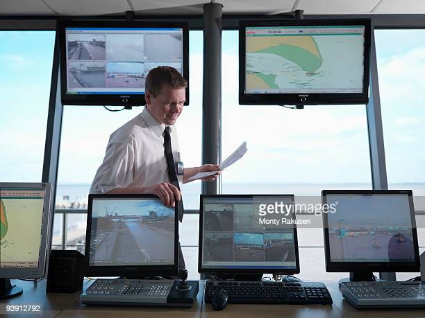 Port Worker In Control Tower
