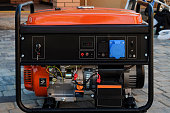 Panel portable electric generator. Electric power supply.