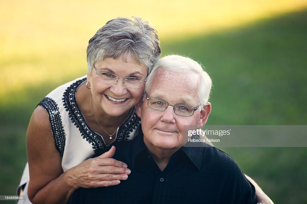 Portait of a senior married couple : Stock Photo