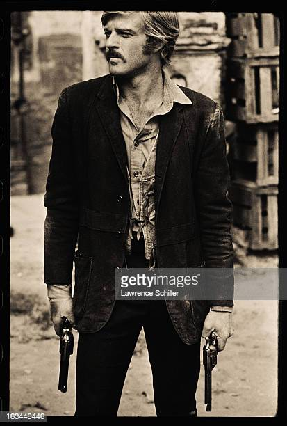 Portait of American film actor Robert Redford in costume for the film 'Butch Cassidy and the Sundance Kid' Cuernavaca Mexico 1968