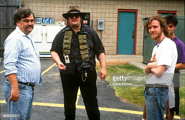 Portait of from left American musicians 'Colonel' Bruce Hampton of the Aquarium Rescue Unit John Popper of Blues Traveler and Chris Barron of Spin...