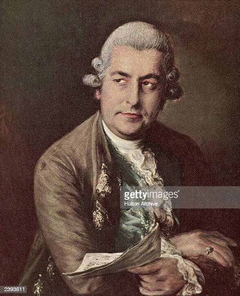 Portait of Germanborn musician and composer Johann Christian Bach son of J S Bach painted by Thomas Gainsborough 1770s