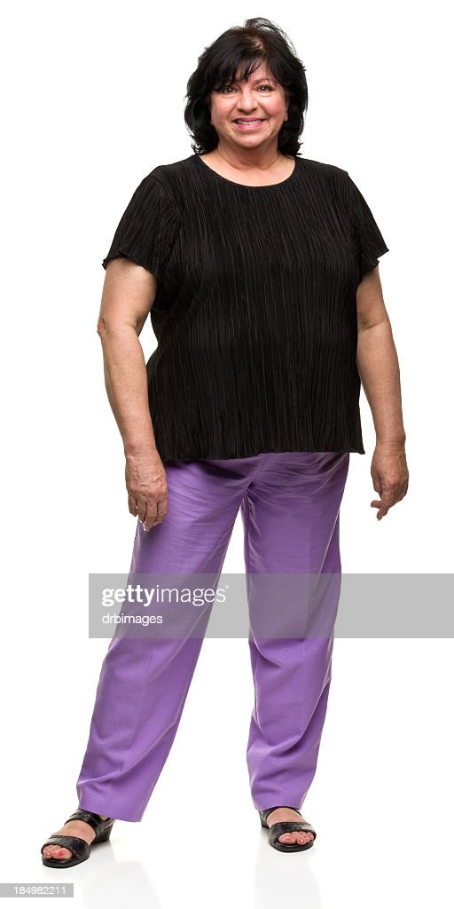 Portait of Happy Standing Woman