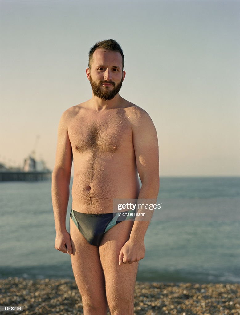 Portait of swimmer to camera