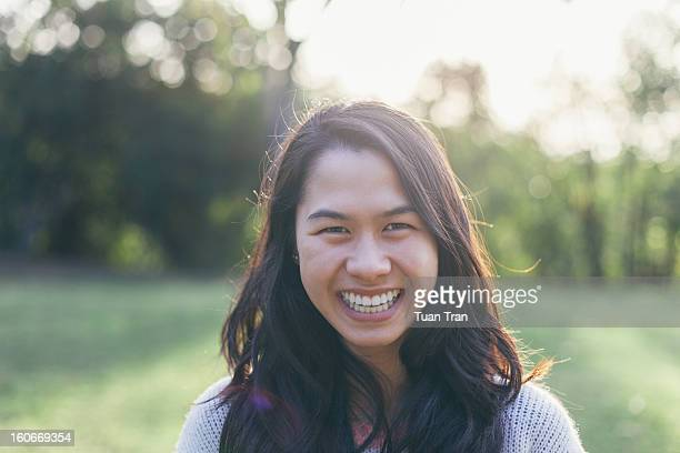 Portait of young Asian girl smiling