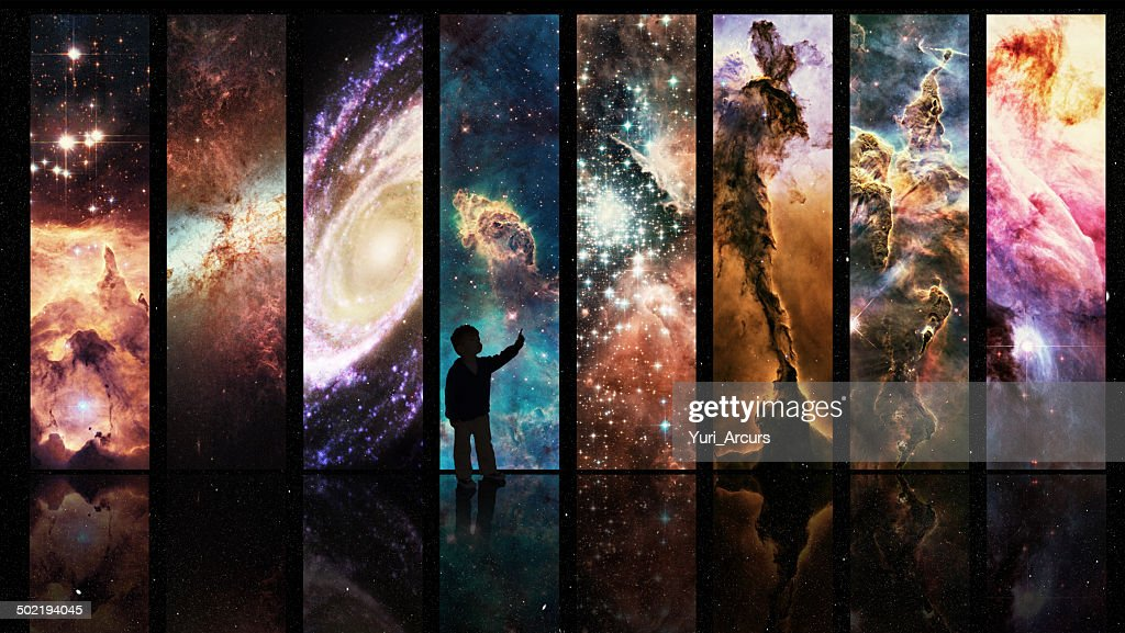 Portals to galactic wonder : Stock Photo