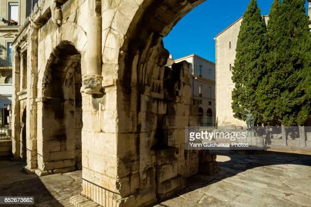 Porte d'Auguste, Nimes, Gard, Occitanie, France