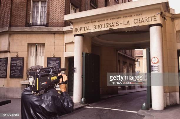 Porte d'entrée de l'hôpital Broussais le 19 mars 1992 à Paris France